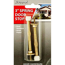 "Guard Security 3"" Brass Plated Spring Door Stops (2 Pack)"
