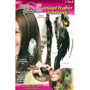 Snap-On Feathers - As Seen on TV (3 Pack) only $1 at 11for10.com Online $1 Store