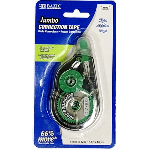 Bazic Jumbo Correction Tape (5mm x 12M)
