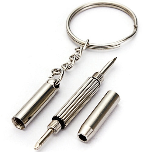 3-in-1 Precision Mini Screwdriver Keychain (Hex Nut, Flat & Phillips Head) only $1 at 11for10.com Online $1 Store