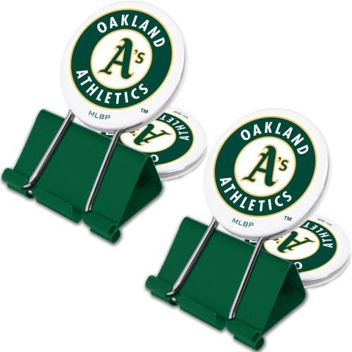 Oakland A's Athletics MyFanClip All-Purpose Binder Clips (2 Pack)