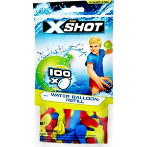 Zuru X-Shot Water Balloons with Refill Tap Fixture (100 Pack) at DollarFanatic.com America's Exclusively Online Dollar Stores.