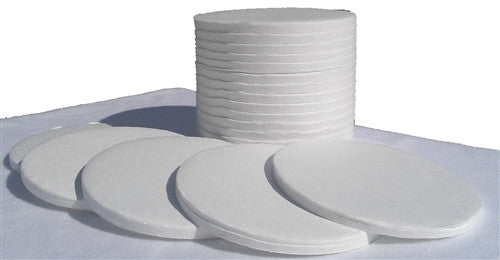 Nevada Weighing 90 mm Glass Fiber Pads - 4000 Count Case