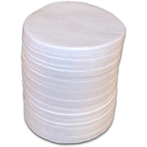 90 mm Round Glass Fiber Pads - 1200 Count Box (6 Bags of 200 Pads)