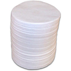 90 mm Round Glass Fiber Pads - 600 Count Box (3 Bags of 200 Pads)