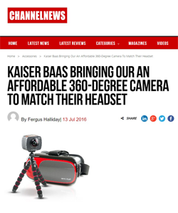 Kaiser Baas Bringing Our An Affordable 360-Degree Camera To Match Their Headset