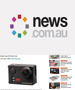 X4 Action Camera featured on News.com.au