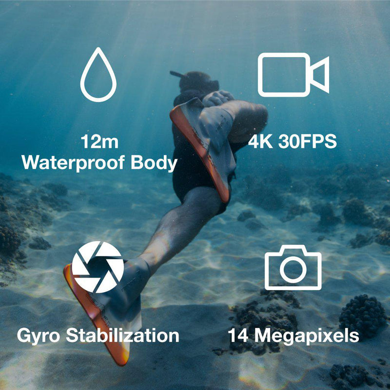X600 Waterproof Body 4K 30FPS Action Camera - KAISER BAAS