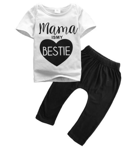 "Baby and Toddler Clothing Set ""Mama is My Bestie"""