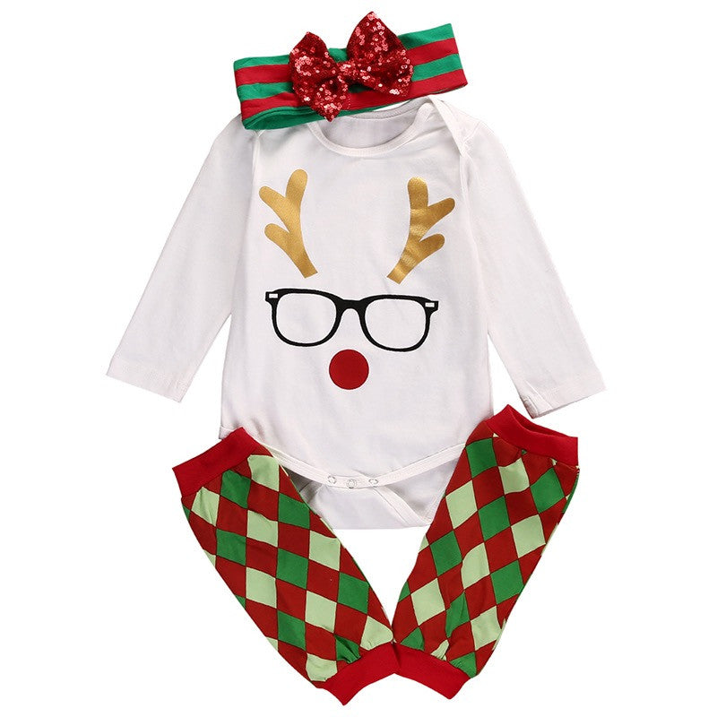 Rudolph Clothing Set With Leg Warmers and Headband