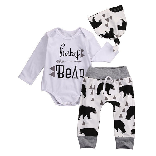 Baby Bear Clothing Set With Pants and Hat