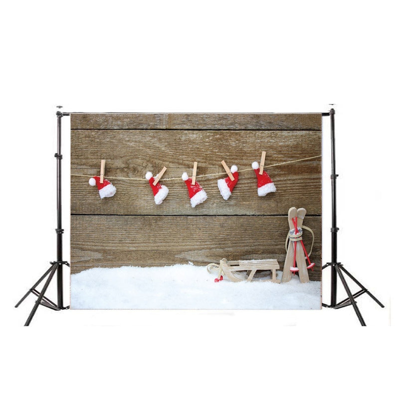 Christmas Hat Backdrop 3ft x 5ft