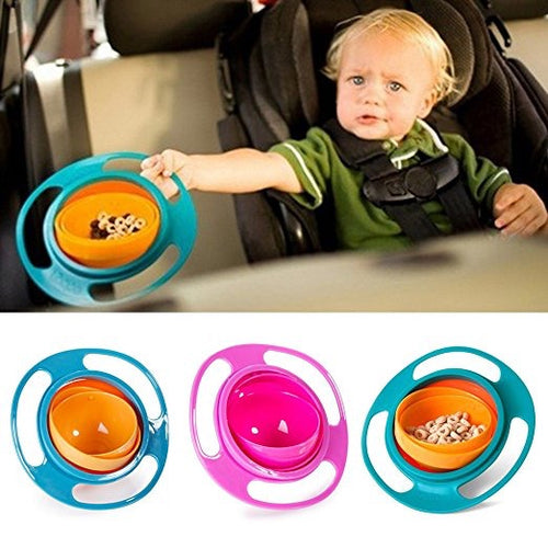 Baby Toddler Non Spill Bowl Dish Universal 360 Rotate Avoid Food Spilling Food Snacks Bowl