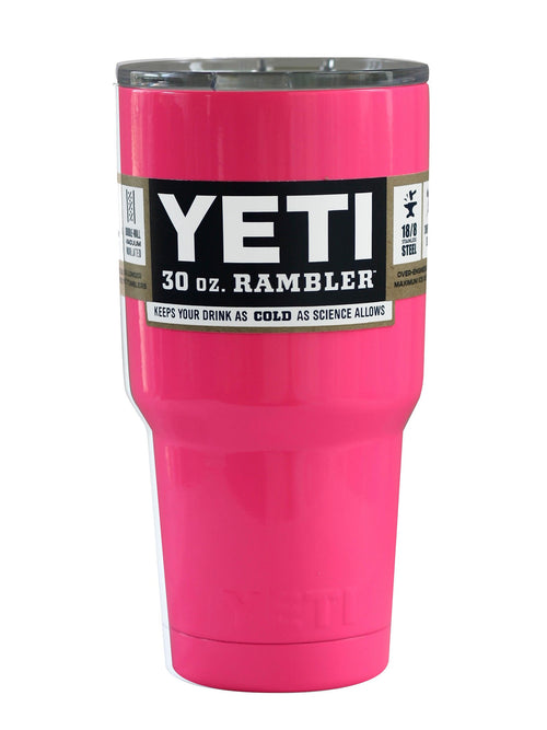 Hot Pink AUTHENTIC Yeti Rambler 30 oz. Cup