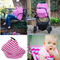 Ready To Ship! Pink and White Striped Carseat Cover/ Nursing Cover