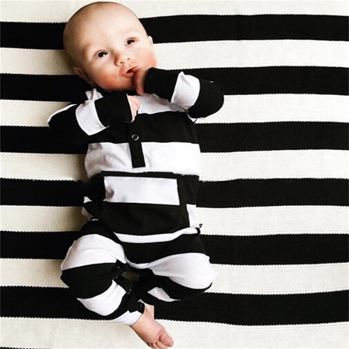 Black and White Striped Sleeper