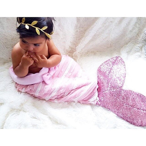 Mermaid Tail Blanket With Glitter