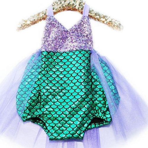 Green & Silver Sequin Mermaid Swimsuit