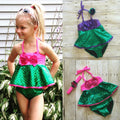 Mermaid Swimsuit With Skirt in Pink or Purple