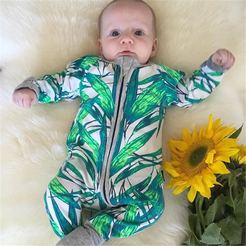 Newborn Baby Bamboo One Piece Outfit Winter Fall Long Sleeve Romper