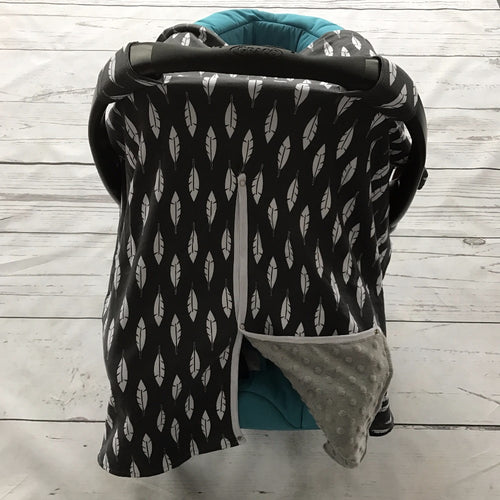 Feather Minky Canopy Cover For Infant Carseat