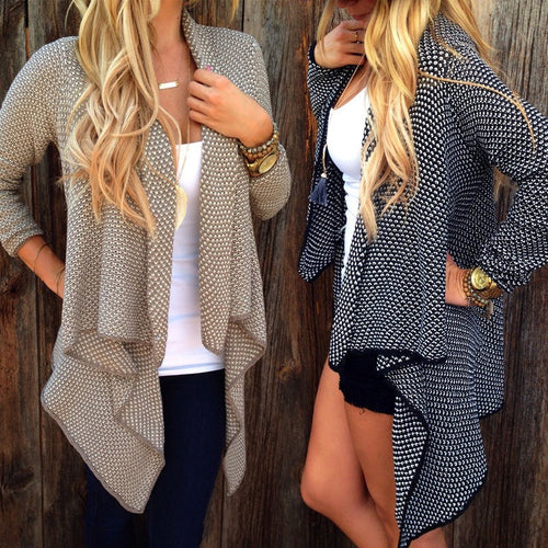 Asymmetric Open Knit Cardigan