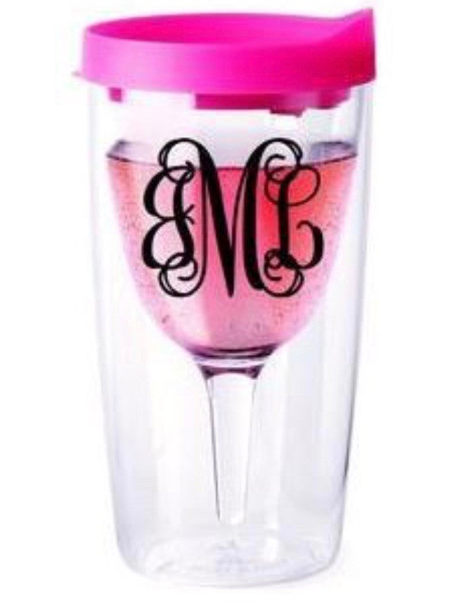 Monogram Personalized Wine Sippy Cup
