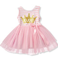 Crown Birthday Tutu Dress In Pink