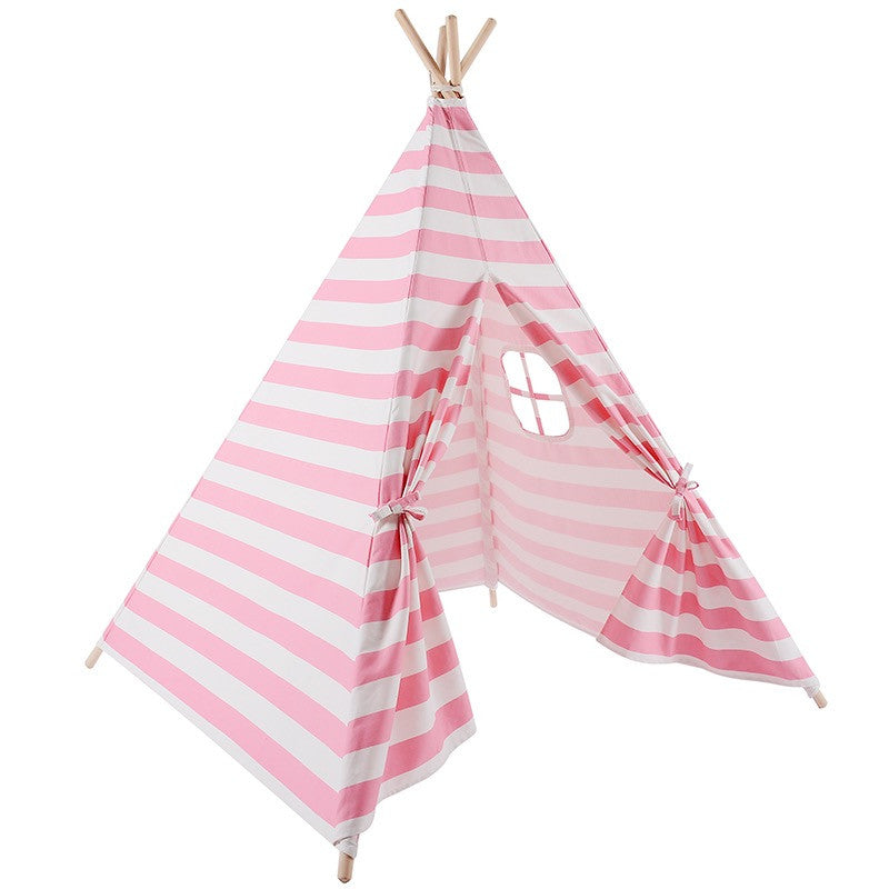 Pink and White Stripe Teepee Tent