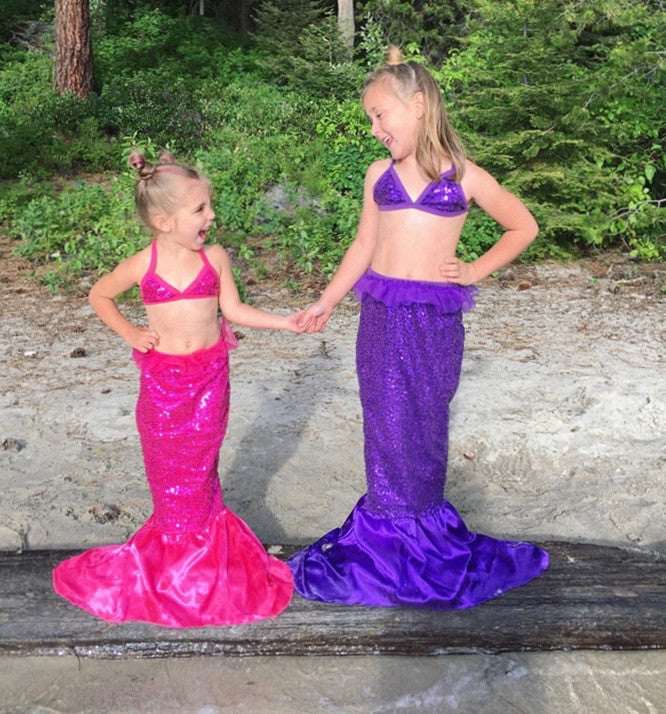 Sequin Mermaid Swimsuit and Tail