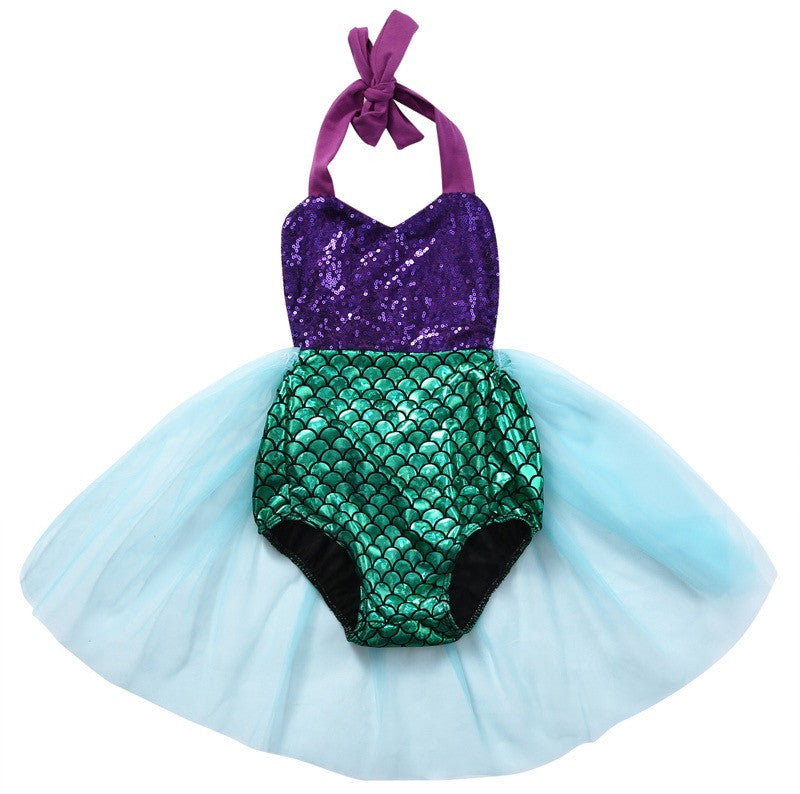Mermaid Swimsuit Romper Purple/Blue Tulle