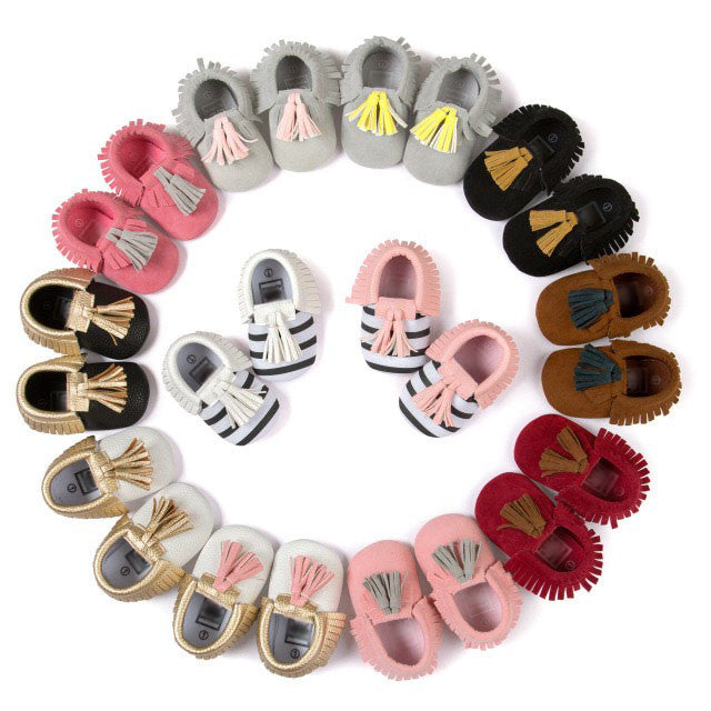Tassel Moccasins for Baby and Toddler