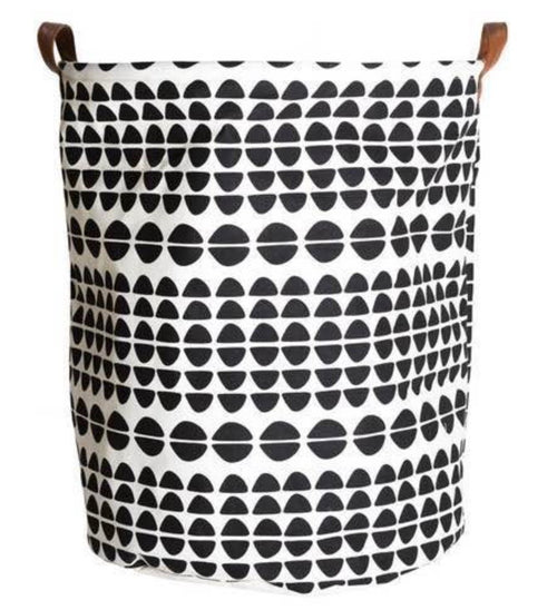 Extra Large Circle Design Laundry Hamper/ Laundry Basket/ Nursery Home Decor/ Toy Storage Bin
