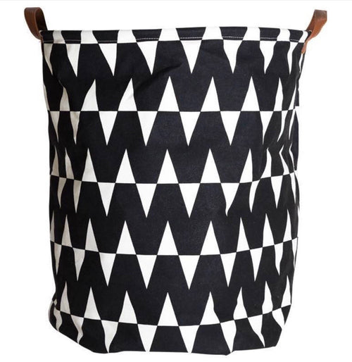 Extra Large Chevron Design Laundry Hamper/ Laundry Basket/ Nursery Home Decor/ Toy Storage Bin