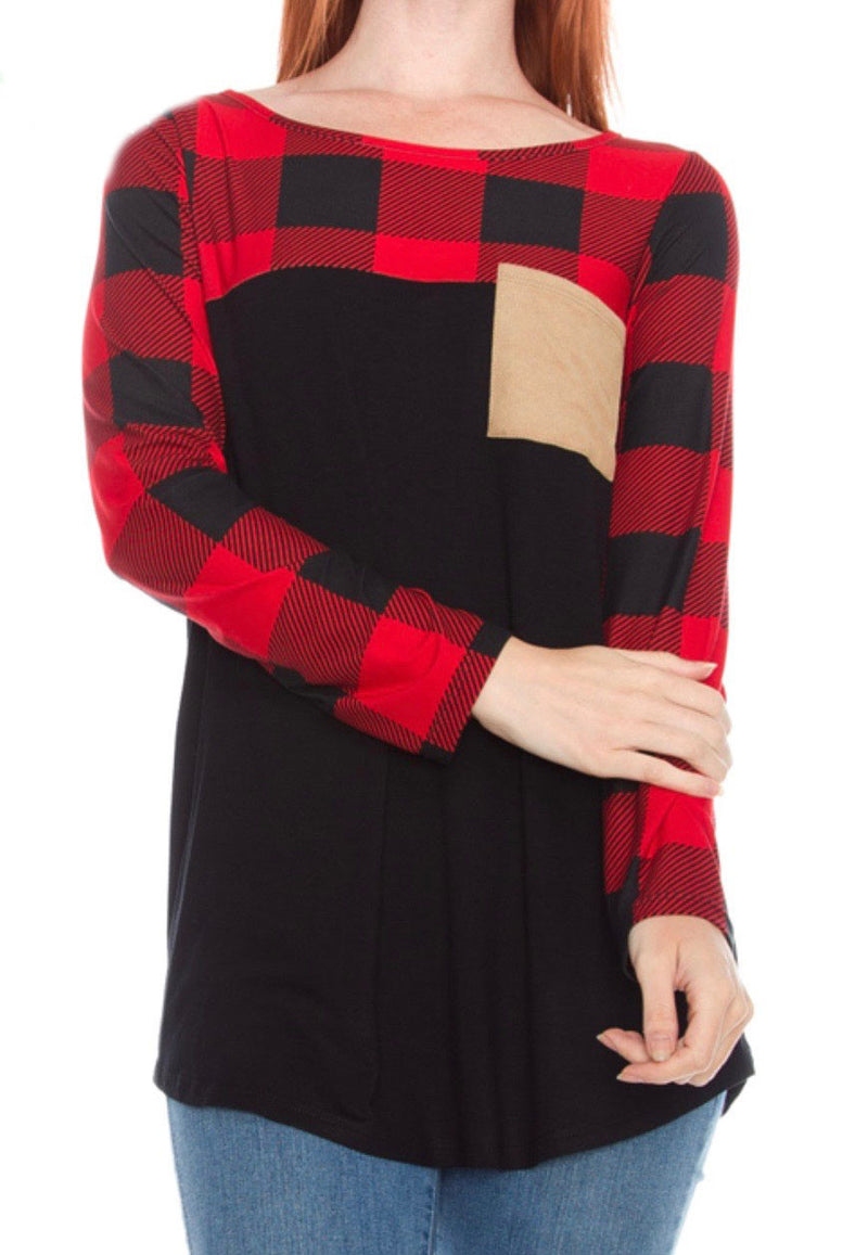 Burbank Plaid Top