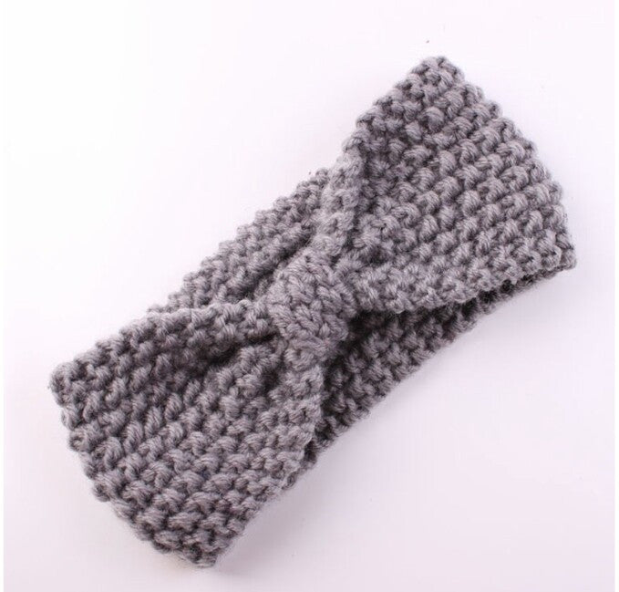 Gray Knit Headband for Baby and Toddler