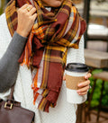 Plaid Blanket Scarf Fall and Winter Scarves
