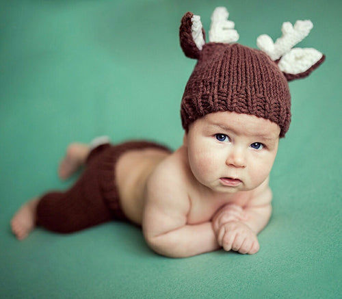 Deer Hat and Matching Pants Photo Prop