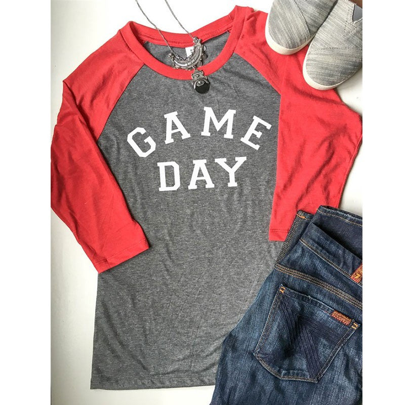 Game Day Raglan Top- Ready To Ship