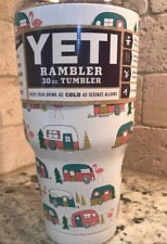 Camper and Trees Yeti Rambler 30 oz. Cup
