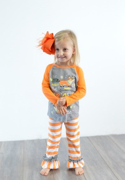 Be Brave Little One Fox Outfit- Ready To Ship!