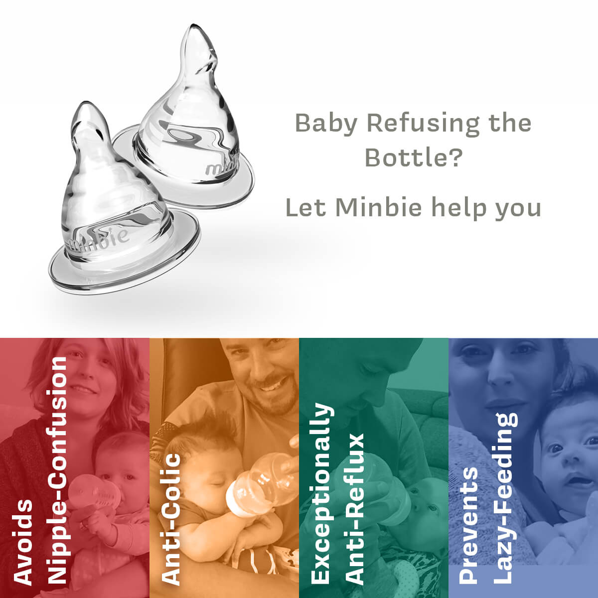 Baby refusing the bottle? Minbie can help.