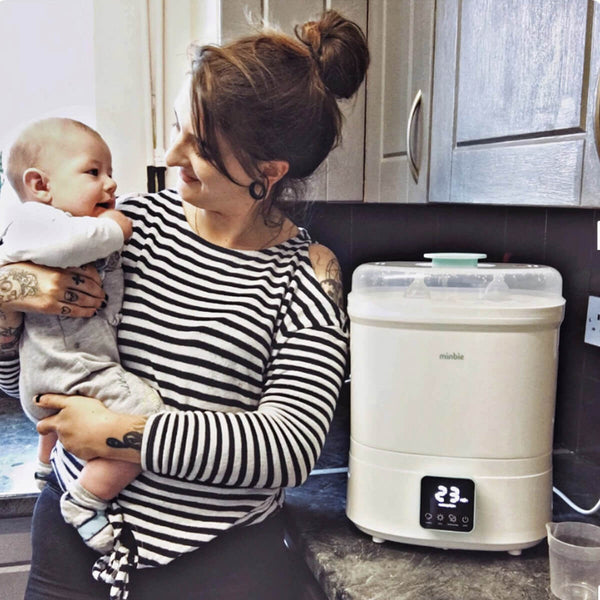 Minbie's sterilizer which helps protect babies from the new coronavirus