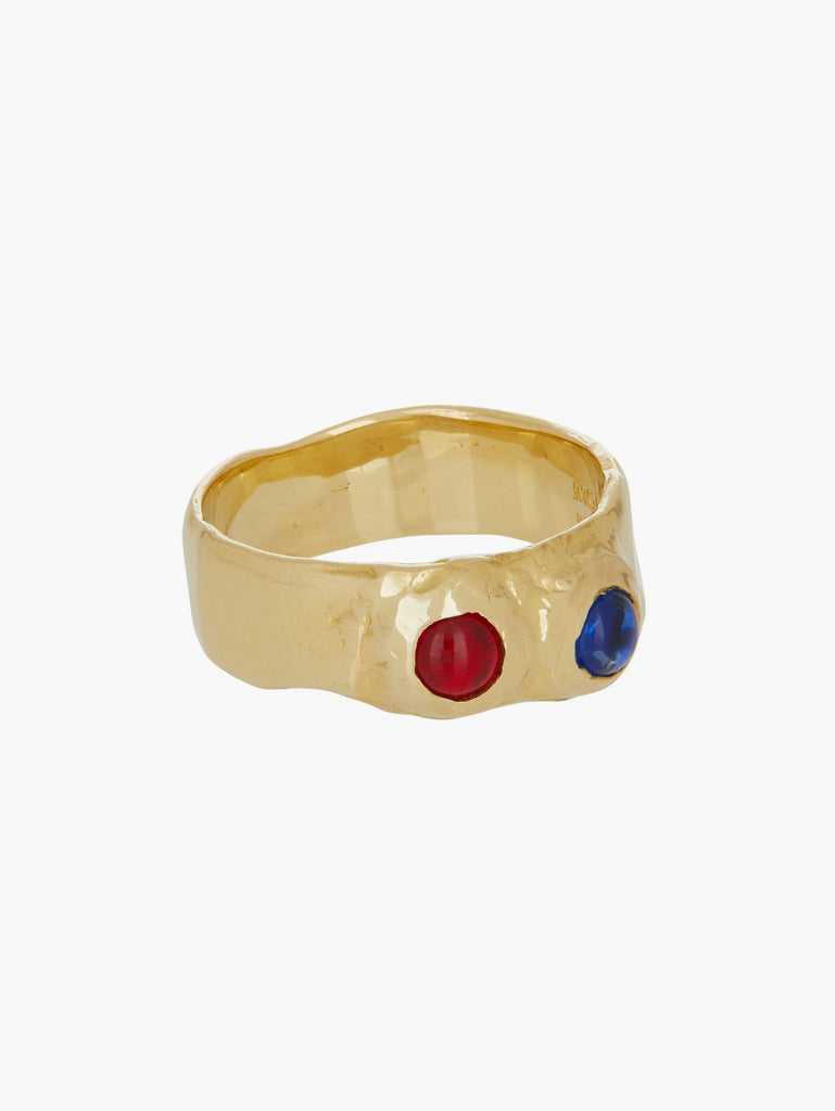 Felt Ring - Red & Blue