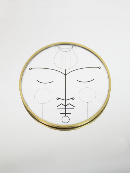 BLAKEBROUGH + KING Orpheus Desktop Brass Mirror