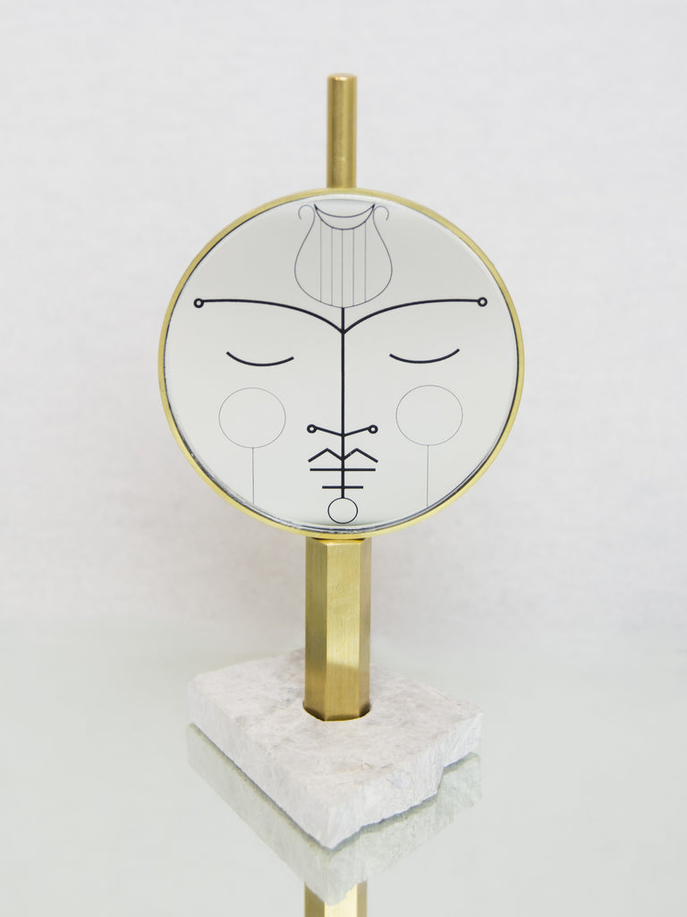 BLAKEBROUGH + KING Orpheus Brass Standing Mirror