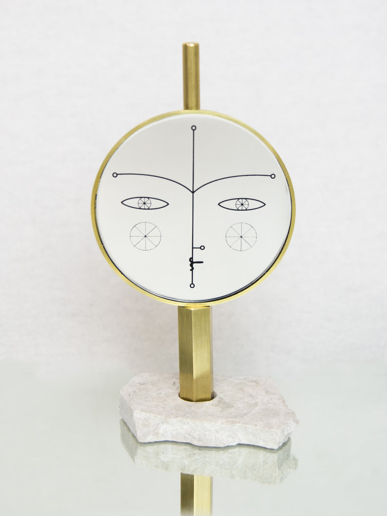 Narcissus Brass Standing Mirror