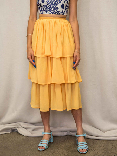 MARYAM NASSIR ZADEH La Terra Three Tier Skirt