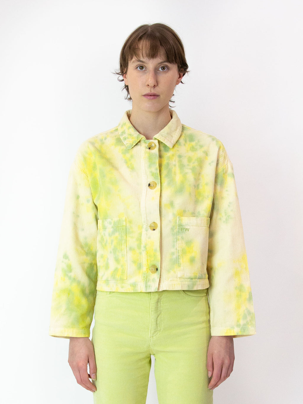 PALOMA WOOL Lu Corduroy TIe-Dye Jacket - Dark Yellow