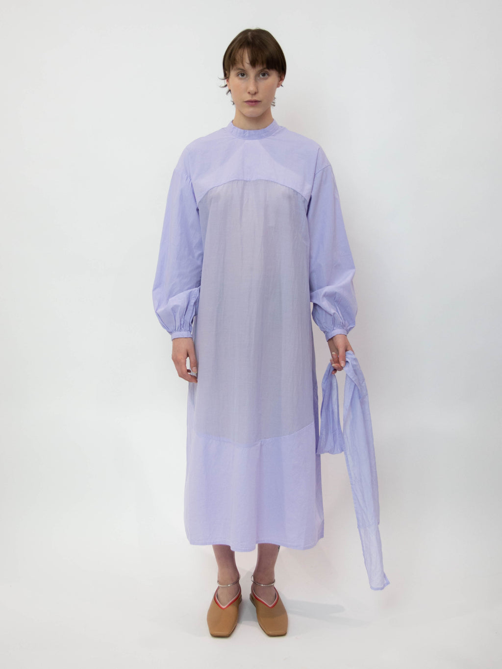 Mythic Ceremony Silk Cotton Circle Indication Dress - Violet Flame